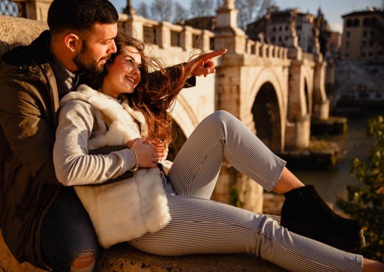 Flavia + Daniele || Servizio fotografico di coppia a Roma