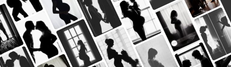 Foto durante la gravidanza: Come fotografare la silhouette?