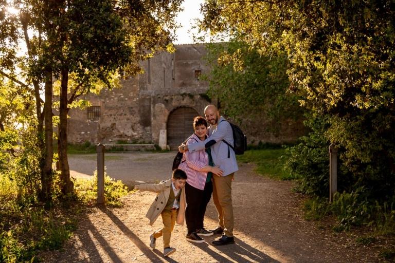 Servizio fotografico di famiglia al Parco degli Acquedotti